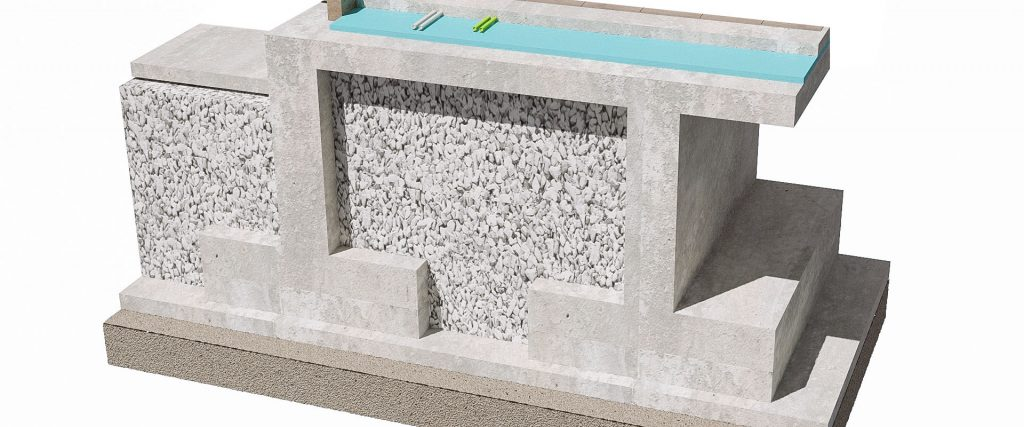 Foundation Construction Illustration