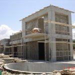 Thick Plaster Layer on villa Nefeli