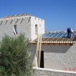 Slop Roof Insulation Inbetween Wooden Carrier