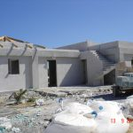 Plaster Construction Stage of villa Rose