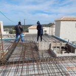 Iron Installation on villa Aphrodite's Roof Slab