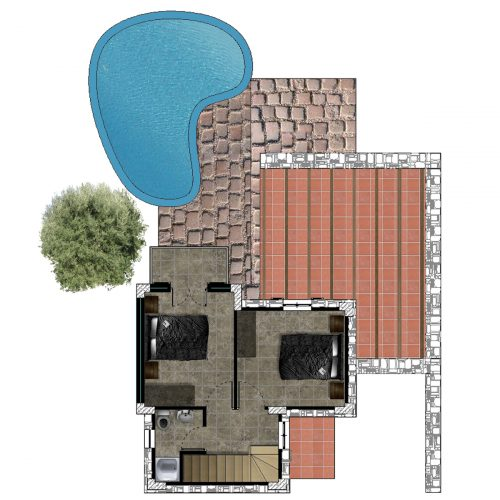 Traditional Villa Lia First Floor Plan