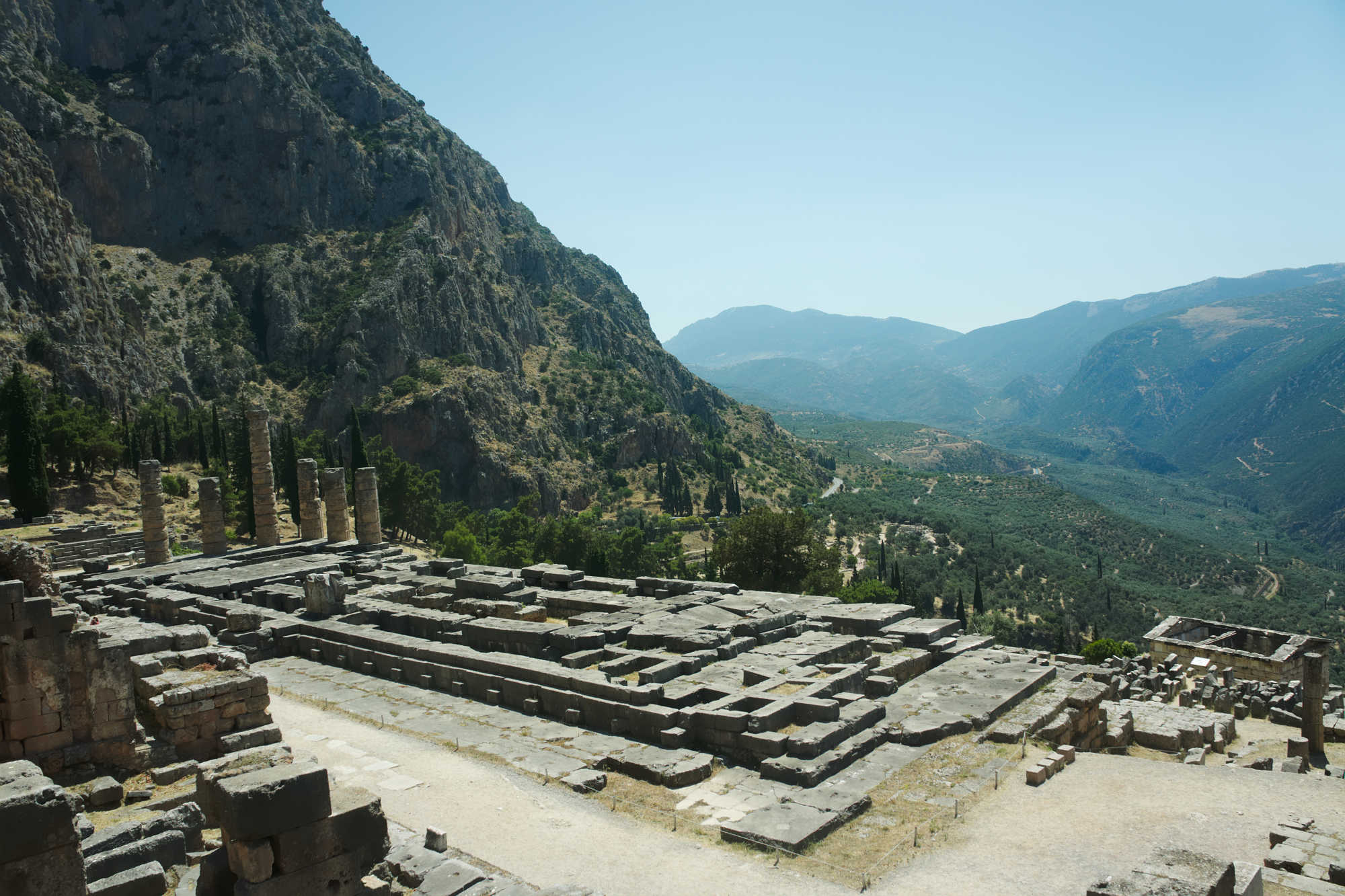 Temple of Apollon in Delphi