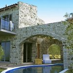 Villa Jasmine - Stone arch on the Swimming Pool