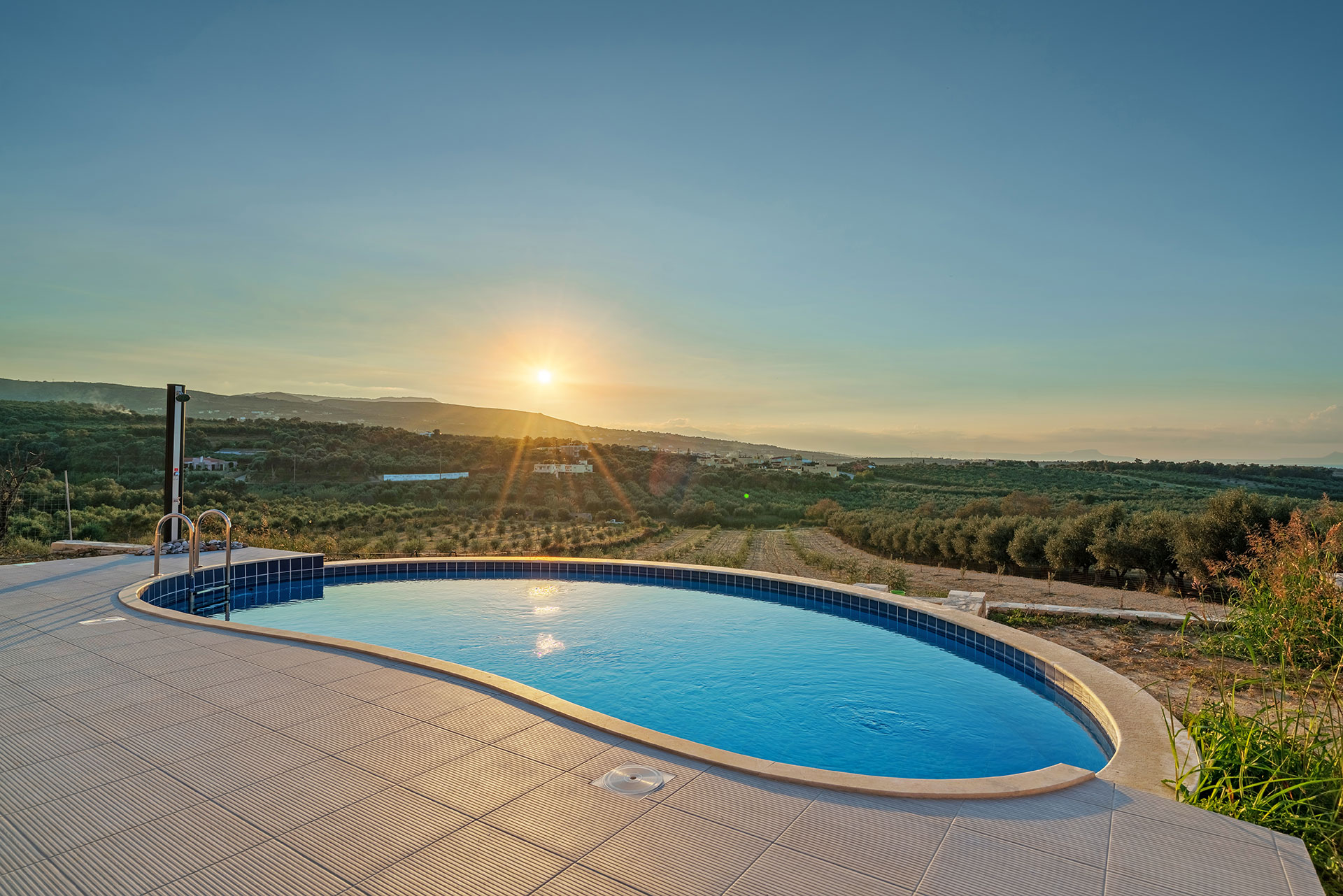 Villa Project Loutra View Sunset