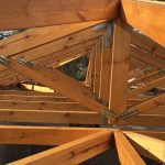 Wood Roof Trusses Project Construction Villa Maia