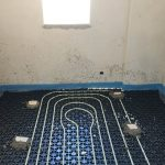underfloor heating in room