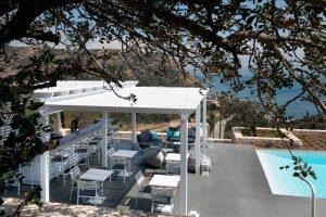 Galini Breeze terrace at the pool