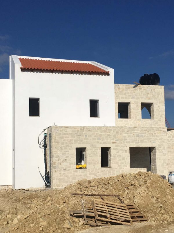 external painting of the villa