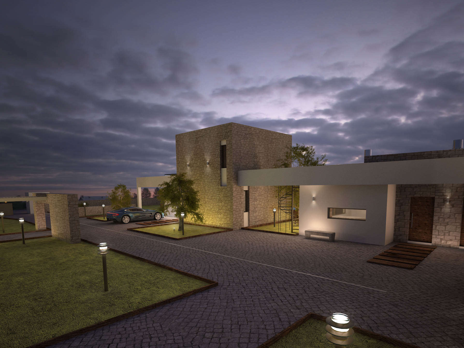 two complex villas