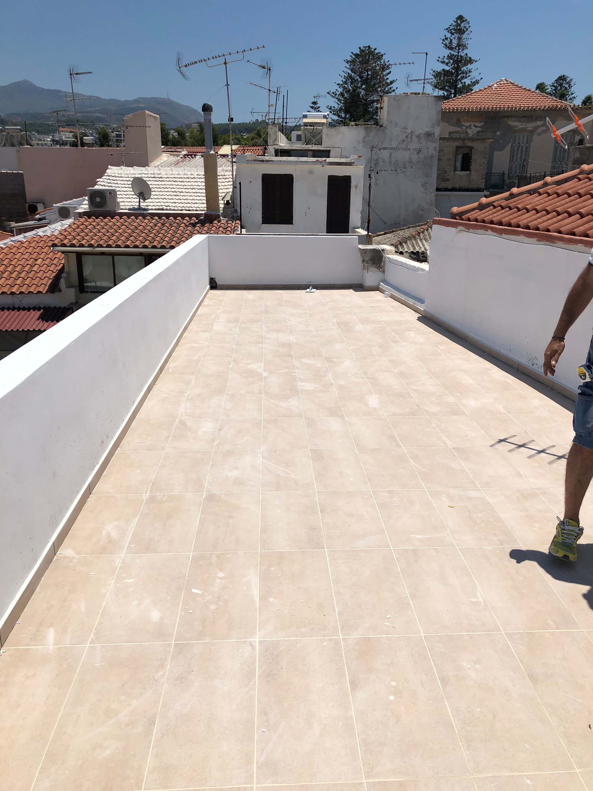 tiling in terrace