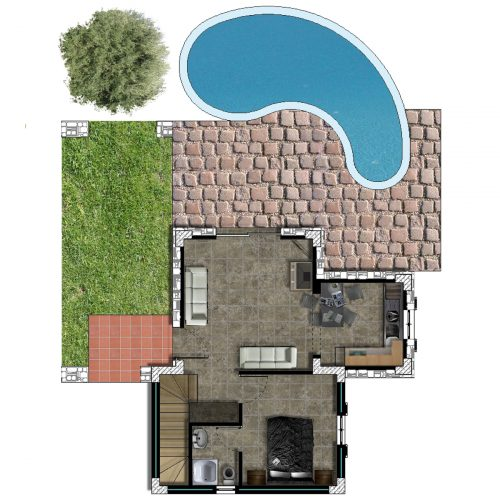 Traditional Villa Ariadne Ground Floor Plan