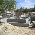 Concrete foundation of villa Ariadne