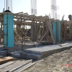 Concrete Columns of villa Nefeli