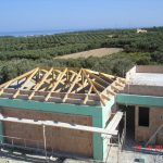 Sloped Roof Wooden Carrier