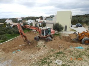 Excavation work for the Foundation