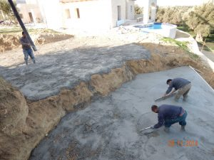 Swimming Pool Leveling Concrete