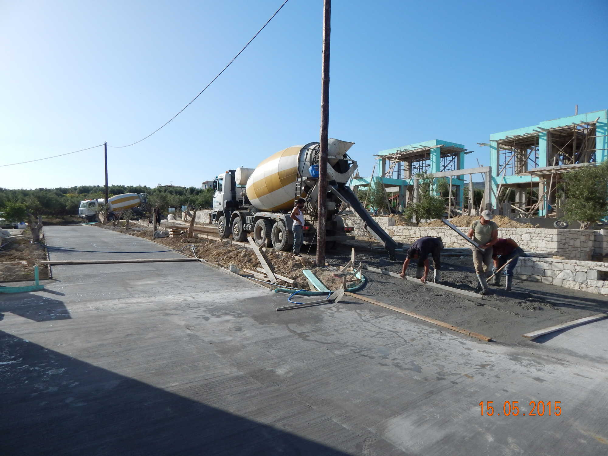 Concrete Trucks On Action