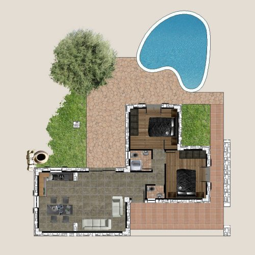 Traditional Villa Daphne Ground Floor Plan