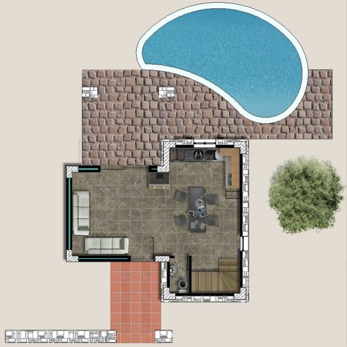 Traditional Villa Lavender Ground Floor Plan