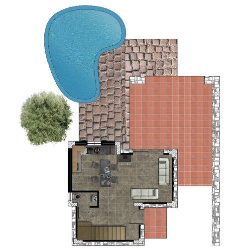 Traditional Villa Lia Ground Floor Plan