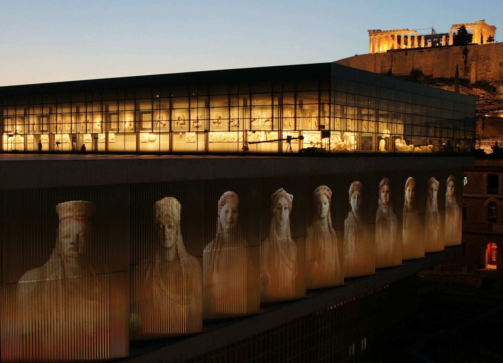 Acropolis Museum in Athens, Creece