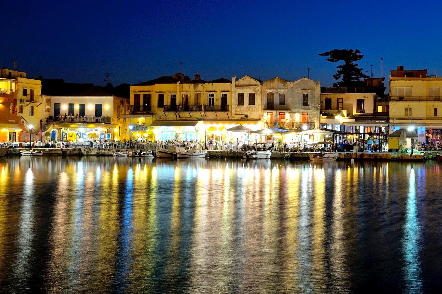 Venetian Harbour of Rethymno in the Evening