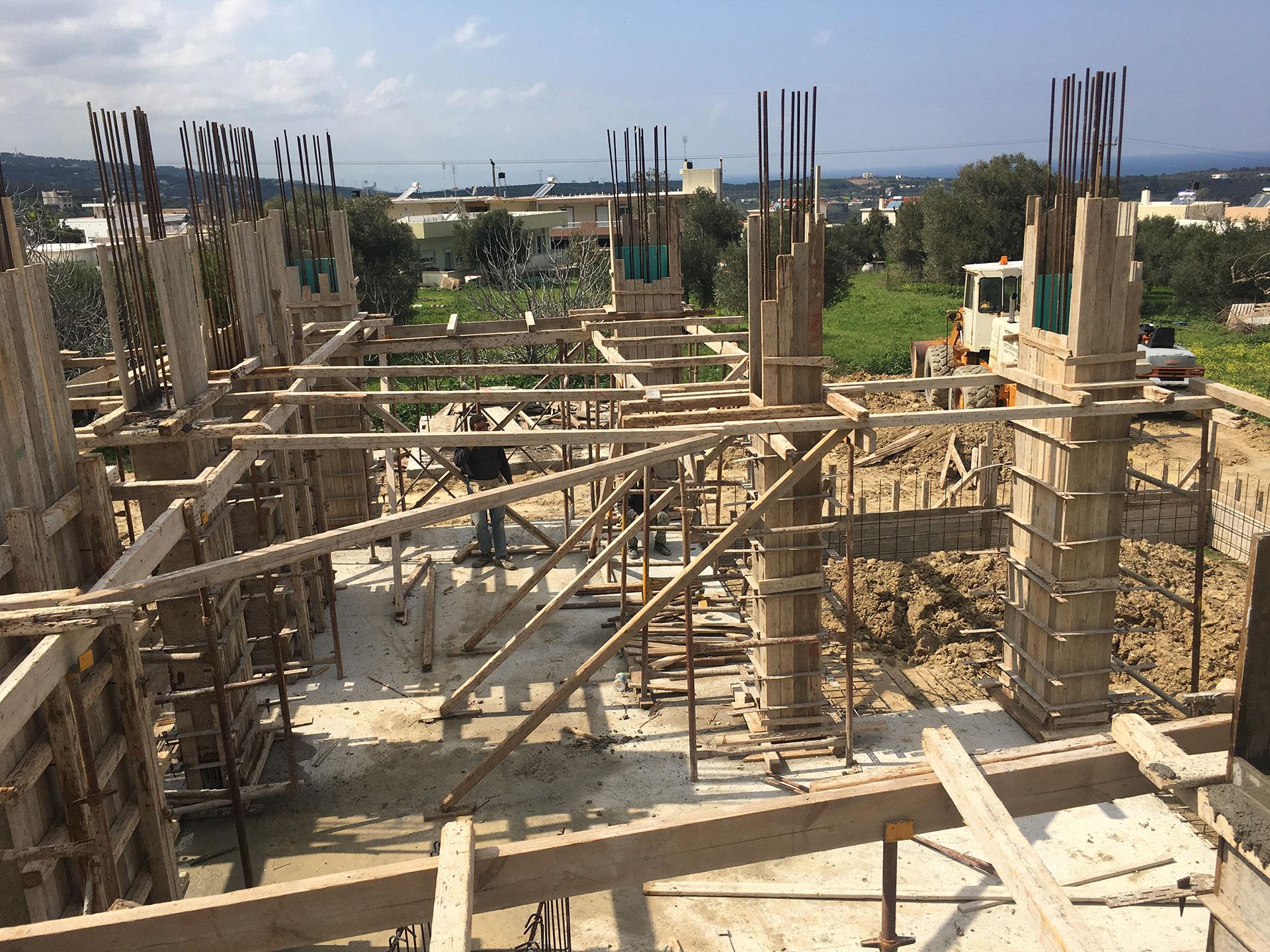Concrete Ground Floor Columns