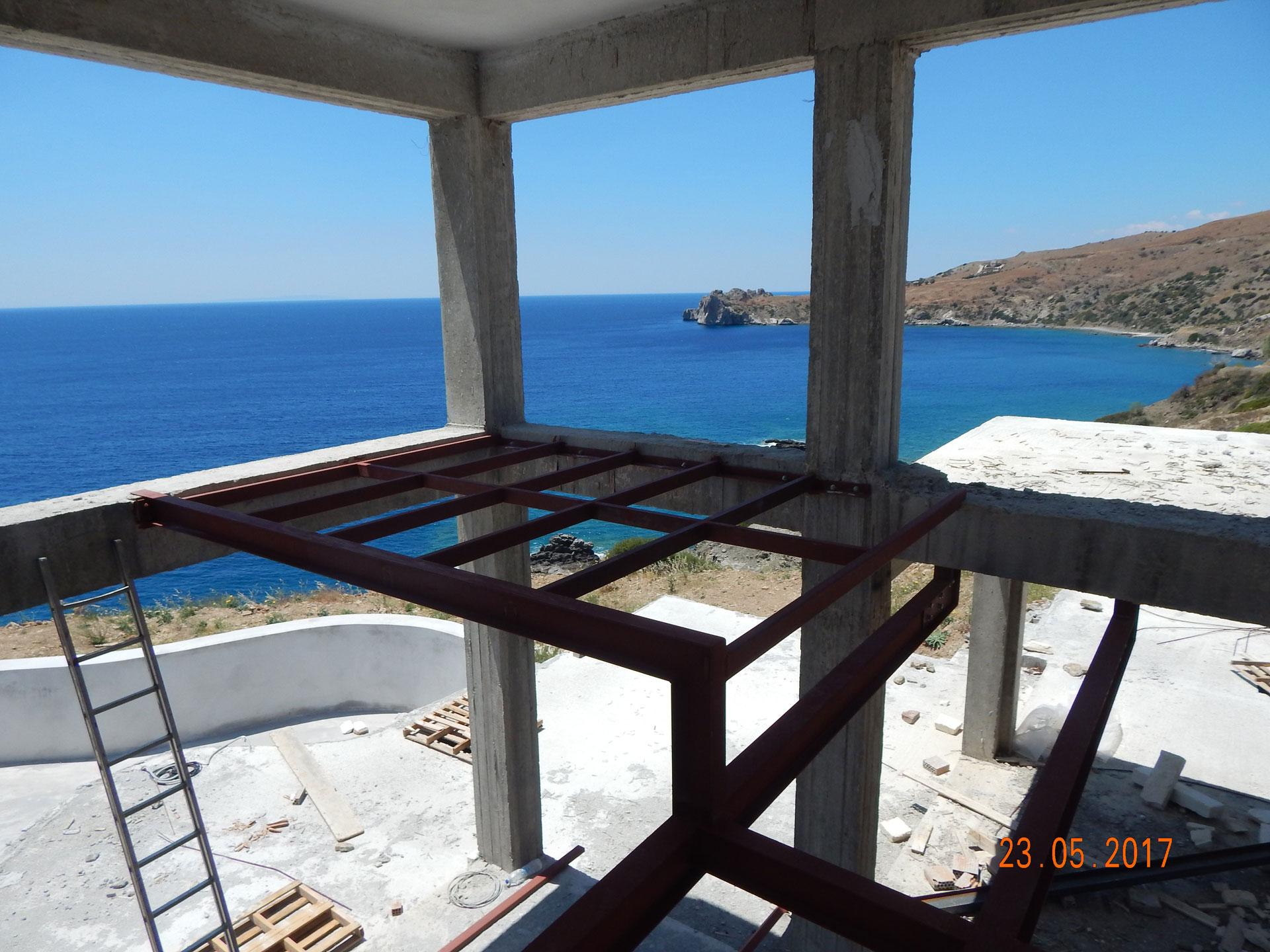Luxury Villa Agios Pavlos Metallic Loft Sea View