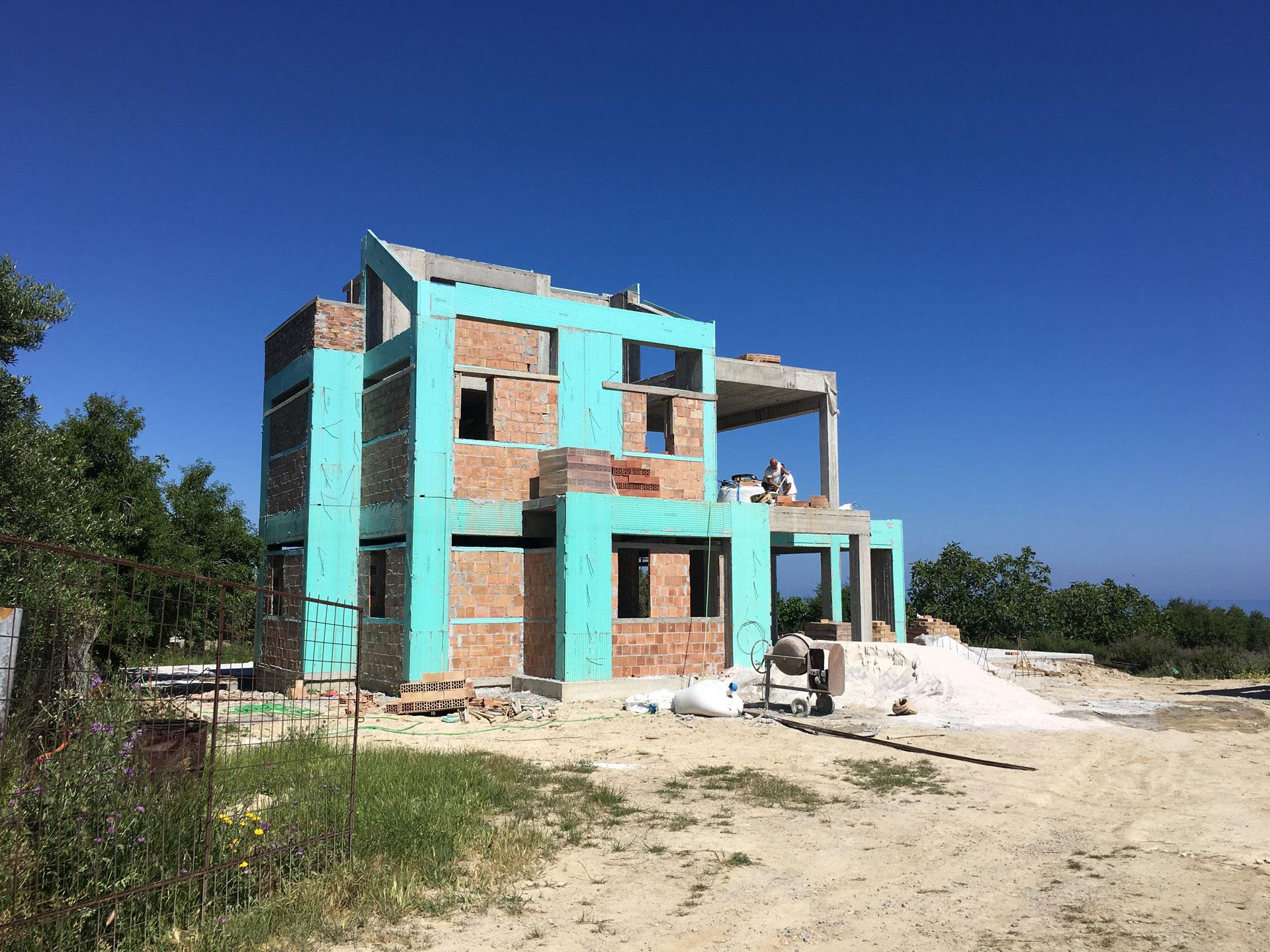 Villa Agios Dimitrios Brick Walls