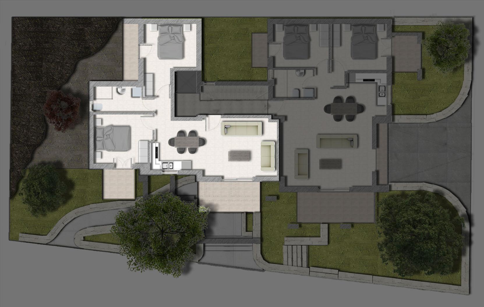 κάτοψη πρώτου ορόφου διαμέρισμα Ρέθυμνο