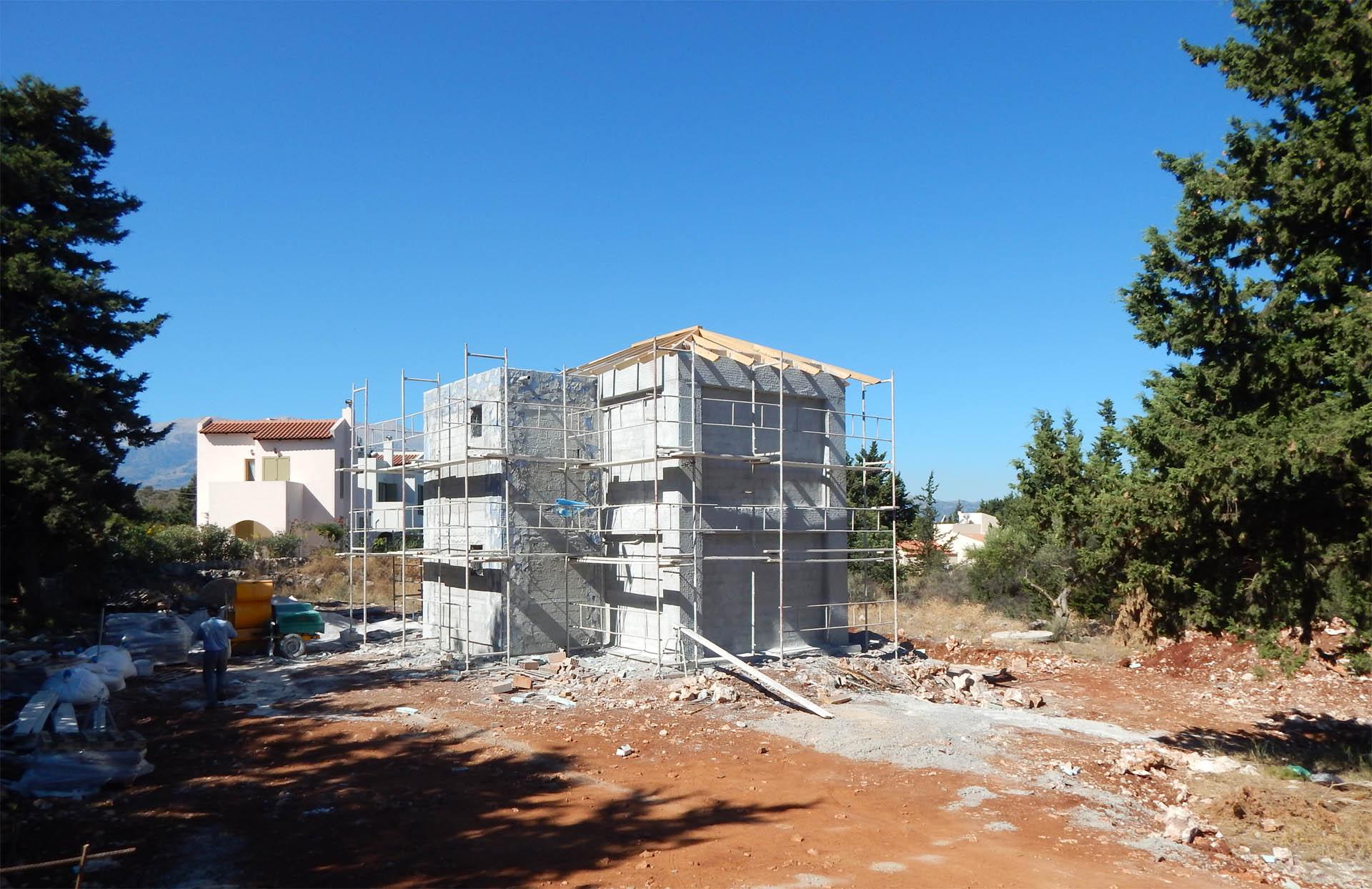 villa Lily Xirosterni plastering
