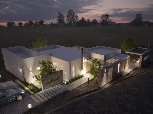 Modern villa in Amnatos