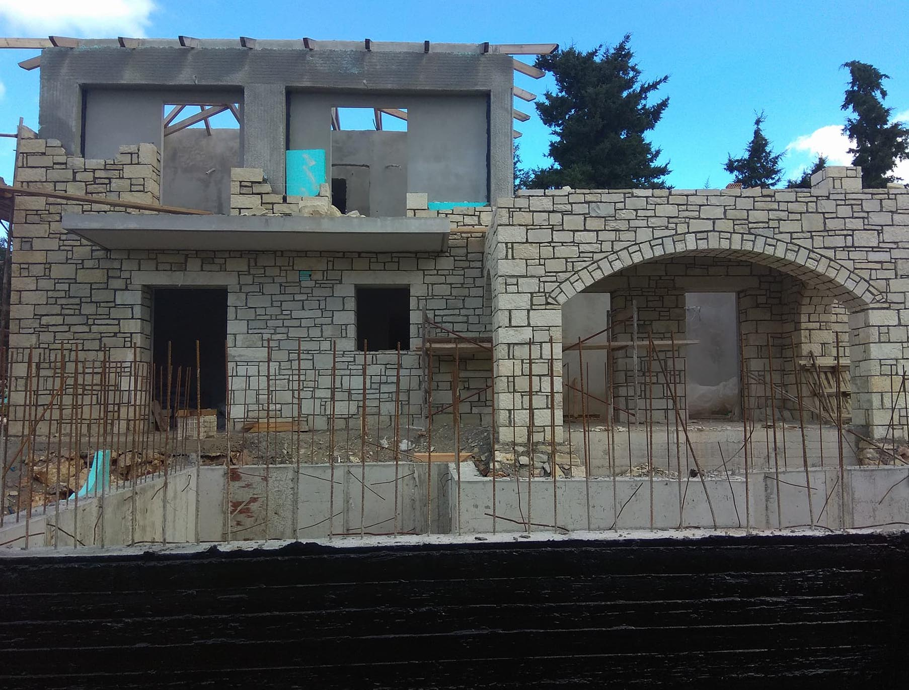 Insulation in stone walls