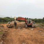 excavation of villa